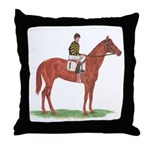 Man O'War Throw Pillow
