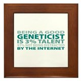 Good Geneticist Framed Tile