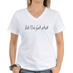 Dog food giver person Women's V-Neck T-Shirt