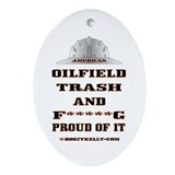 American Oil Field Trash Oval Ornament