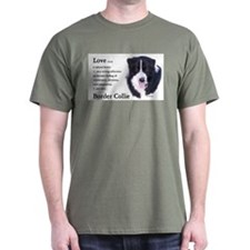 Border Collie Love Is T-Shirt