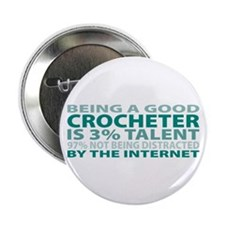 "Good Crocheter 2.25"" Button (100 pack)"