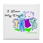 Clothesline Dryer Love Tile Coaster