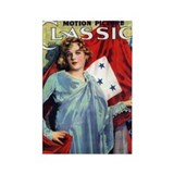 Marion Davies Patriotic Rectangle Magnet