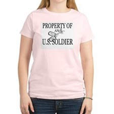 PROPERTY OF SOLDIER Women's Pink T-Shirt