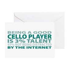 Good Cello Player Greeting Card