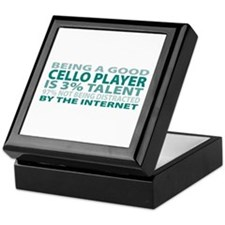Good Cello Player Keepsake Box