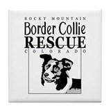 Rocky Mountain Border Collie  Tile Coaster