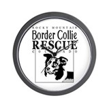 Rocky Mountain Border Collie  Wall Clock
