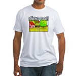 Chicken Ranch Farm Texas Fitted T-Shirt