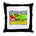 Chicken Ranch Farm Texas Throw Pillow