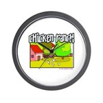 Chicken Ranch Farm Texas Wall Clock