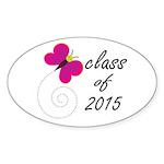 Class Of 2015 Oval Sticker