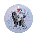 Miniature Poodle Ornament (Round)