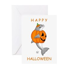 Halloween Dolphin Greeting Card