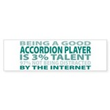 Good Accordion Player Bumper Sticker (50 pk)