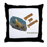 Beware The Platypus Throw Pillow