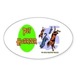 Pet Hoarder Oval Sticker