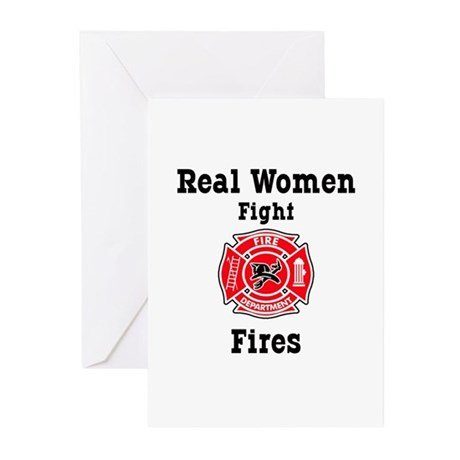Real Women Fight Fires Greeting Cards (Pk of 10)