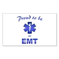 Proud To Be An EMT Rectangle Decal