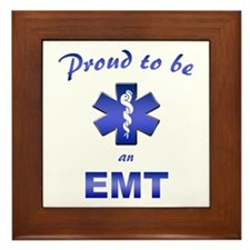 Proud To Be An EMT Framed Tile