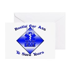 Bustin Our Ass EMT Greeting Cards (Pk of 10)