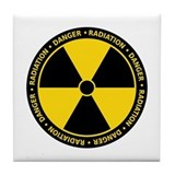Radiation Warning Tile Coaster