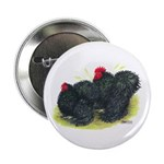 "Black Frizzle Cochins2 2.25"" Button (100 pack"