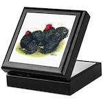 Black Frizzle Cochins2 Keepsake Box