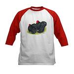 Black Frizzle Cochins2 Kids Baseball Jersey