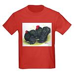 Black Frizzle Cochins2 Kids Dark T-Shirt