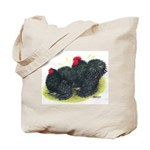 Black Frizzle Cochins2 Tote Bag