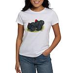 Black Frizzle Cochins2 Women's T-Shirt