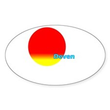 Deven Oval Sticker (50 pk)