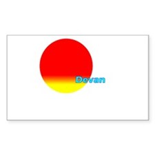 Devan Rectangle Sticker 10 pk)