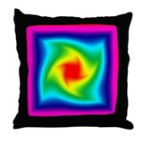 Rainbow Twist Throw Pillow