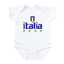 Italia 4 Star Italian Soccer Onesie