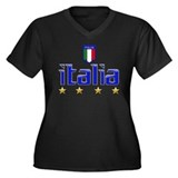 Italia t-shirts 4 Star Italia Soccer Women's Plus