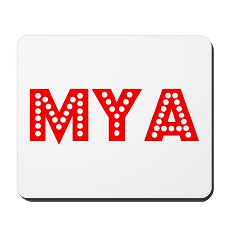 Retro Mya (Red) Mousepad