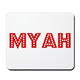 Retro Myah (Red) Mousepad