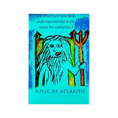 King of Atlantis Rectangle Magnet (10 pack)