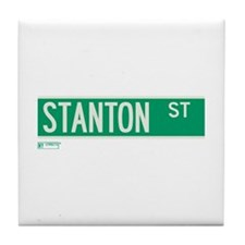 Stanton Street in NY Tile Coaster