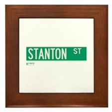 Stanton Street in NY Framed Tile