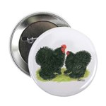"Black Frizzle Cochins 2.25"" Button (100 pack)"