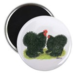 "Black Frizzle Cochins 2.25"" Magnet (100 pack)"