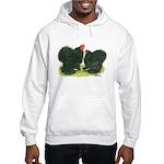 Black Frizzle Cochins Hooded Sweatshirt