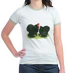 Black Frizzle Cochins Jr. Ringer T-Shirt
