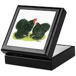 Black Frizzle Cochins Keepsake Box