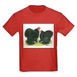 Black Frizzle Cochins Kids Dark T-Shirt