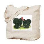 Black Frizzle Cochins Tote Bag